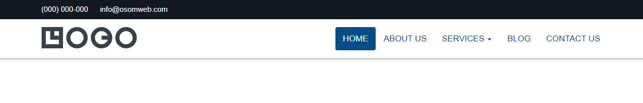Bootstrap Sticky Navbar With Dropdown